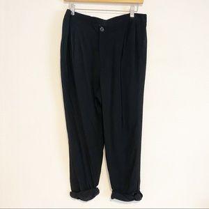 Anthropologie Elevenses black Capri pants